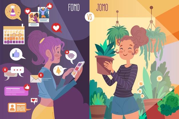 Aprenda mais sobre as duas expressões F.O.M.O. e J.O.M.O.