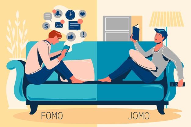 Pratique seu inglês com este exercício sobre F.O.M.O.
